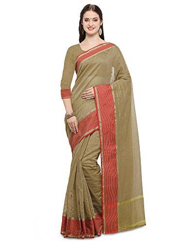 Mrinalika Fashion Linen Saree With Blouse Piece(Linen saree for women_3LNN309_Orange_Free Size)
