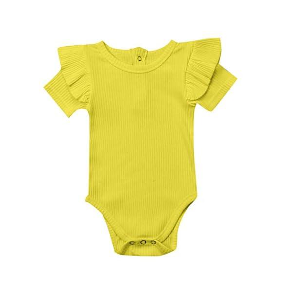 MAYOGO Mono Bebé Niña Verano Mangas Cortas con Volantes Bebé Body Fotografia Ropa de Bebe Niñas Bodies Fiesta Bebe… 5