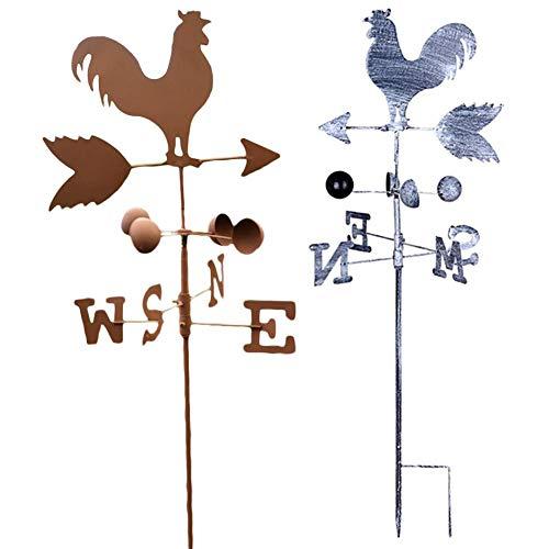 kaikki Vintage Roheisen Rooster Wetterfahne Windgeschwindigkeit Spinner Richtungsanzeige Patio Yard Garden Ornament (Farbe Zufällig)
