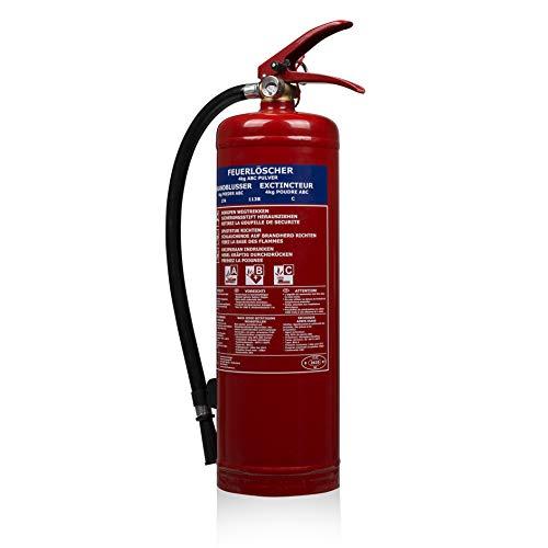 Smartwares FEX-15140 Extincteur - Poudre - 4 kg - Pour feu de classe ABC - Avec kit de fixatio