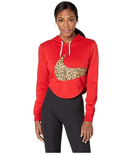 Nike Damen W NSW Hoodie Crop Anml Sweatshirt,rot(university red),M