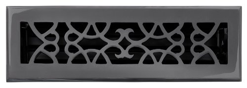 laiton Elegans 120 A DBZ Laiton massif Cast victorien 2–1/10,2 cm par 25,4 cm Floor Register, finition Bronze foncé Modèle