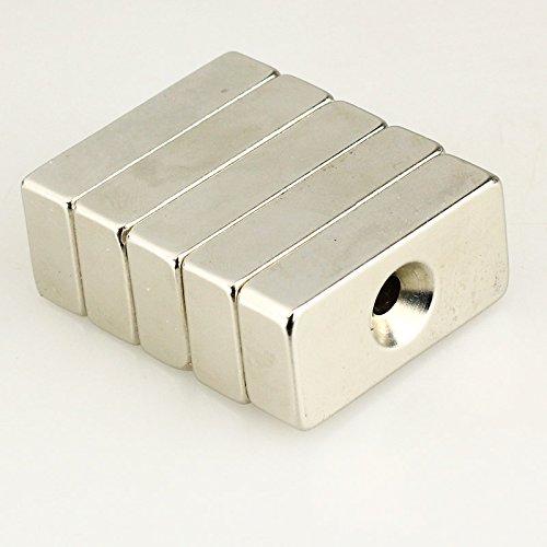 40x20x10mm - N40 Neodym Quader Magnet mit Löchern d=6- - Caraudio-empfänger