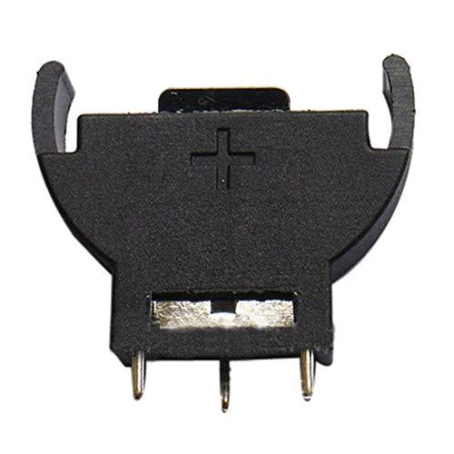 Yusell Neue vertikale CR2032 2025 halbrunde Batterie Münzknopf Sockel 3 PIN Halter Fall -