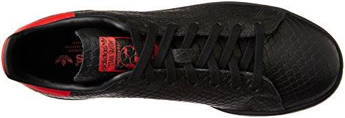 Adidas Herren Sneaker STAN SMITH Nero (Cblack/Cblack/Scarle)