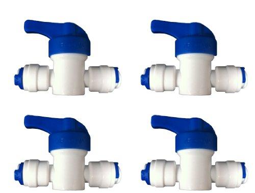 Nature 's Water Set 4Ventile Wasserhähne Online für System-Filter zu Umkehrosmose-Kühlschränke LDPE 1/4