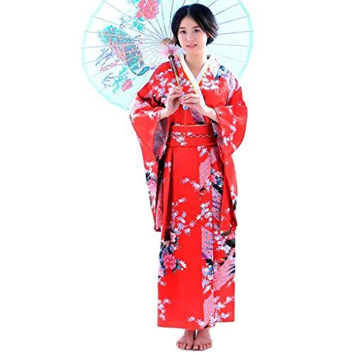 Beaums Larga Floral Mujeres jóvenes japonesas Raso