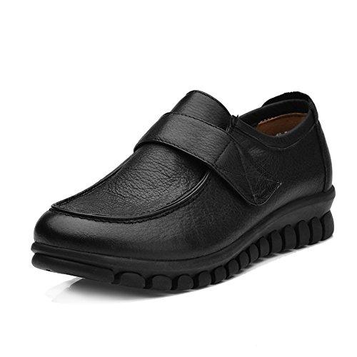 Automne dames chaussures occasionnelles/Chaussures de maman/Chaussures de fond mou/Chaussures occasionnelles de grande taille en cuir A