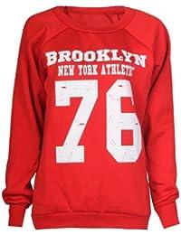 Sweatshirt Brooklyn 76 Impression Toison - Femme