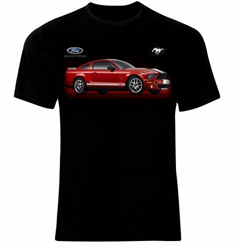 Ford Mustang Shelby Cobra GT500 Männer Printed T-Shirt (XL, Black)