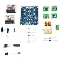 Placa de Protección de Altavoz, AC 12-24V Regulador de Voltaje de Relé Doble Módulo de Placa de Protección de Altavoz Kit de Bricolaje