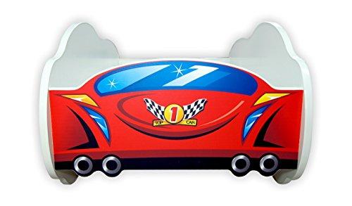 Letto A Forma Di Auto Da Corsa : Disney pixar cars saetta mcqueen turntable youtube