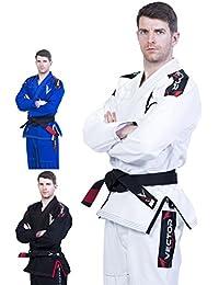 Kimono Vector Attila Series de Jiu Jitsu con cinturón blanco, ligero, 100% algodón