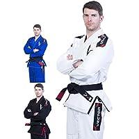 Kimono Vector Attila Series de Jiu Jitsu con cinturón blanco, ligero, 100% algodón, A2, Blanco