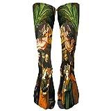 XuxMim Bunte Krawatten-Kompressions-Socken-Fußball-Socken-hohe Socken-lange Socken