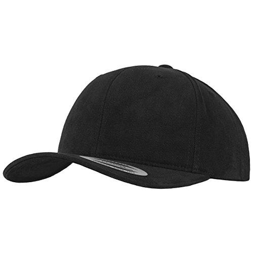 Flexfit Brushed Cotton Twill Mid-Profile Kappen, Black, one Size - Brushed Twill Cap