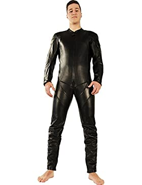 Lederkombi Lederanzug black Einteiler Lederoverall Bockle® Suit Aniline