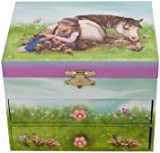 """Musicbox World 28066 Horse Jewellery Box Playing the Melody - """"Oh Susanna"""""""