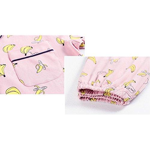MOXIN Pantaloni a maniche lunghe in pigiama di cardigan di cotone da donna Set di abbigliamento da casa sexy M