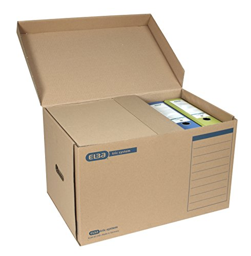 "Elba 100421143 Systemcontainer ""tric system"" mit Klappdeckel, 10 Stück, naturbraun - 2"