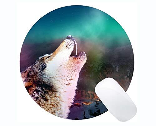 Yanteng Gaming Round Mouse Pad Benutzerdefinierte, Tier Wolf Zahn Gaming Mousepad ()