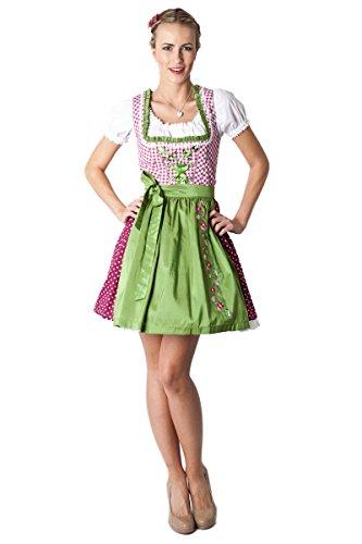Preisvergleich Produktbild Ludwig und Therese Damen Trachten Dirndl Nele mini pink/grün 11168 40
