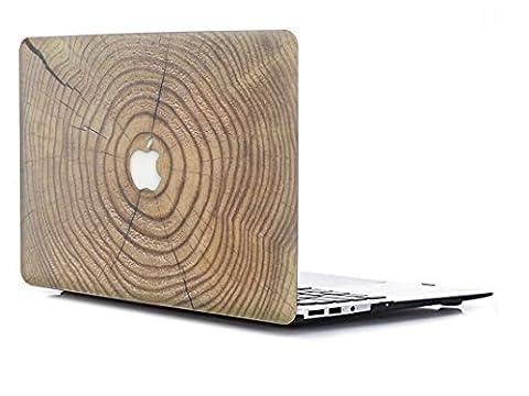 Coque Macbook Pro 13 Retina, L2W Texture en bois Revêtement