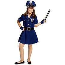 My Other Me - Disfraz de Policía para niña, talla 5-6 años (Viving Costumes MOM00929)