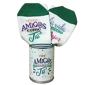 ARTEMODEL Amigos calcetín Bote, Color Verde (1)