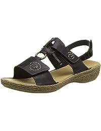 Rieker 65863 Damen Offene Sandalen mit Keilabsatz
