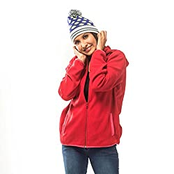 Koshas Womens Red Polar Fleece Sweatshirts in Size M (33% Off on Check Out)