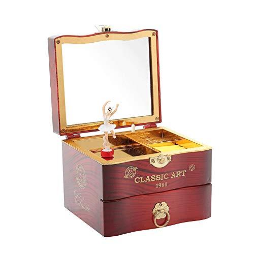 Klassische Musik Schmuck-Box for Mädchen Ballerina Musik-Kasten for Kinder Schmuckschatullen Schmuckaufbewahrungsbehälter mit Schublade for Kinder Kleiner Mädchen Geschenke - Melody for Elise