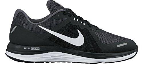 Nike Wmns Dual Fusion X 2, Chaussures de Running Entrainement Femme Noir (Black/white/dark Grey)