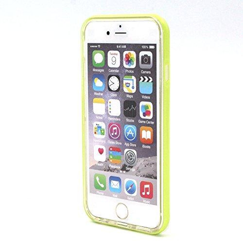 SainCat Coque iphone 6,Coque Silicone Transparent, iphone 6s Housse Retour Hard Case Bumper Skin Shell,Brilliant Effect de Protection Pare-Chocs Complete Protecteurs,Transparente Clair TPU silicone so transparent,vert