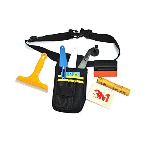 e installieren Tool Pouch Taille Tasche Gürtel, Vinyl Geschenkpapier Anwendung Tool Kit für Auto Fenster Tint Film Installation Taille Tasche ()