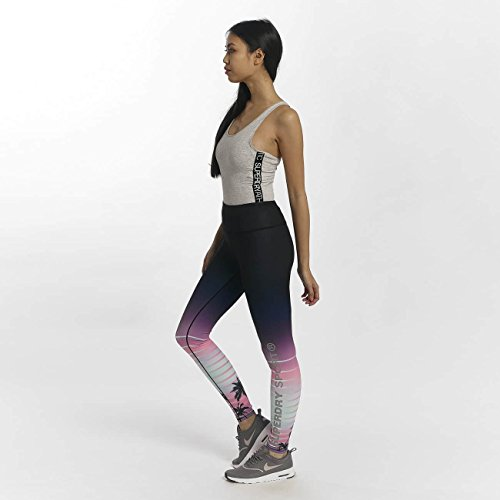 Superdry Donna Pantaloni / Leggings Sport Printed Nero