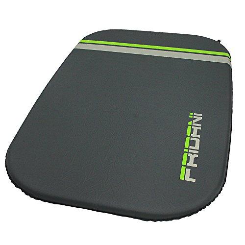 Fridani ISO DUO Max selbstaufblasende Isomatte für 2 Personen Soft-Touch Doppel-Luftmatratze mit 5000g Campingbett Liegefläche 198x130x7 cm, hautfreundlich, rutschfest, schnell aufblasbar inkl. Packsack