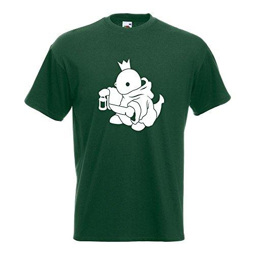 KIWISTAR - Boss Fight King König T-Shirt in 15 verschiedenen Farben - Herren Funshirt bedruckt Design Sprüche Spruch Motive Oberteil Baumwolle Print Größe S M L XL XXL Flaschengruen