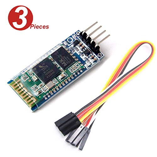 DollaTek 3Pcs HC-06 Wireless-4 Pins Bluetooth HF-Transceiver Serial Module 4 Satz-Kabel für Arduino Hf-transceiver