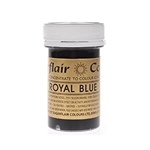 ** NEW ** Sugarflair Paste Colours - Royal Blue - 25g