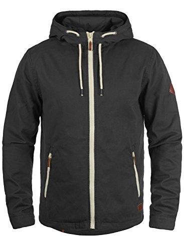Blend Bobby Herren Übergangsjacke Herrenjacke Jacke gefüttert mit Kapuze, Größe:XL, Farbe:Phantom Grey (70010)