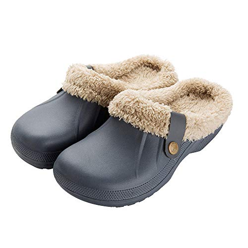 YMYGYR Outdoor Anti-Slip House Shoes,Woman House Slippers,PU Leather Warm Fur Home Slipper, Indoor Floor Shoes for Female Winter