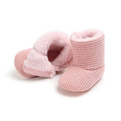 Baywell Baby Jungen Mädchen Schuhe Winter Krabbelschuhe Kleinkind Newborn Schöne Warme Stiefel Unisex Babyschuhe (S/0-6M, Rosa) -