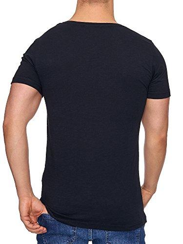 TAZZIO Herren Rundkragen T-Shirt 17107 Schwarz