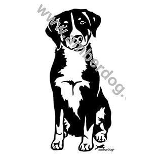 amberdog Appenzeller Sennenhund Wandtattoo Art.Nr.T0142 Größe 60x40cm