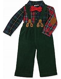 Mud pie Christmas Holiday Plaid Pant Set Toddler (5T)
