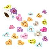 Outus 800 Pezzi San Valentino Adesivi a Forma di Cuore San Valentino Adesivi di Cuore Etichetta per San Valentino Festa Decorazione di Regalo Forniture