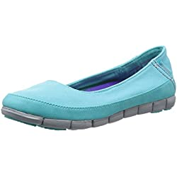 Crocs Stretch Sole Flat Damen Pool/Lgr 36EU