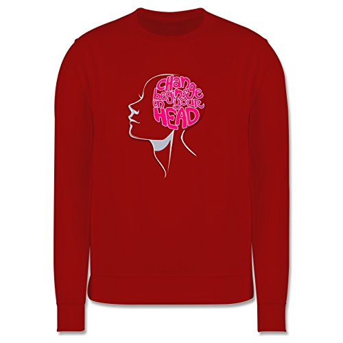 Statement Shirts - Change begins in your head - Herren Premium Pullover Rot