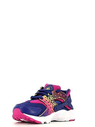 Nike Mädchen Huarache Run Print (Ps) Turnschuhe Schwarz / Pink (Nght Dp / Dp Nght-Fr Pnk-brght C)